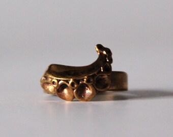 Modernist Scandinavian Bronze Ring - Hannu Ikonen, Finland 70s
