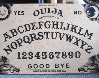 "Ouija Board ""Mystifying Oracle"" Talking Board Set By William Fuld - 60s Vintage Classic Spirit Communication Tool"