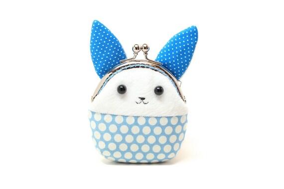 Little blue rabbit mini coin purse