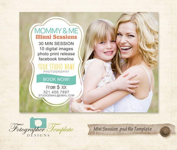 Mini Sessions Template Mothers Day By PhotographerTemplate