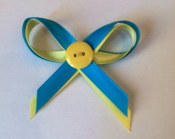 Donate 15 to Ukraine Yellow Blue Ukrainian Awareness Bow Pin Donation