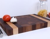 Beautiful and Classic End Grain Butcher Block Walnut and hard sugar maple