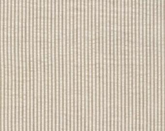 Reserved for Burns    Kahki Seersucker Fabric from Robert Kaufman -2 1 Yard