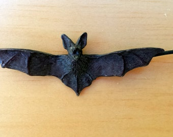 Large Black Flying Bat Necklace in Sterling Silver Sale, Perfect for Halloween Bat Jewelry Halloween Jewelry