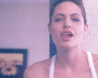 Mature, Angelina Jolie, Actress,  Autographed Photo, See-Through Tanktop