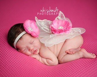 MiSS PRISS Couture WING SET - Gorgeous Wing and Headband Set - Preemie through Toddler Sizes