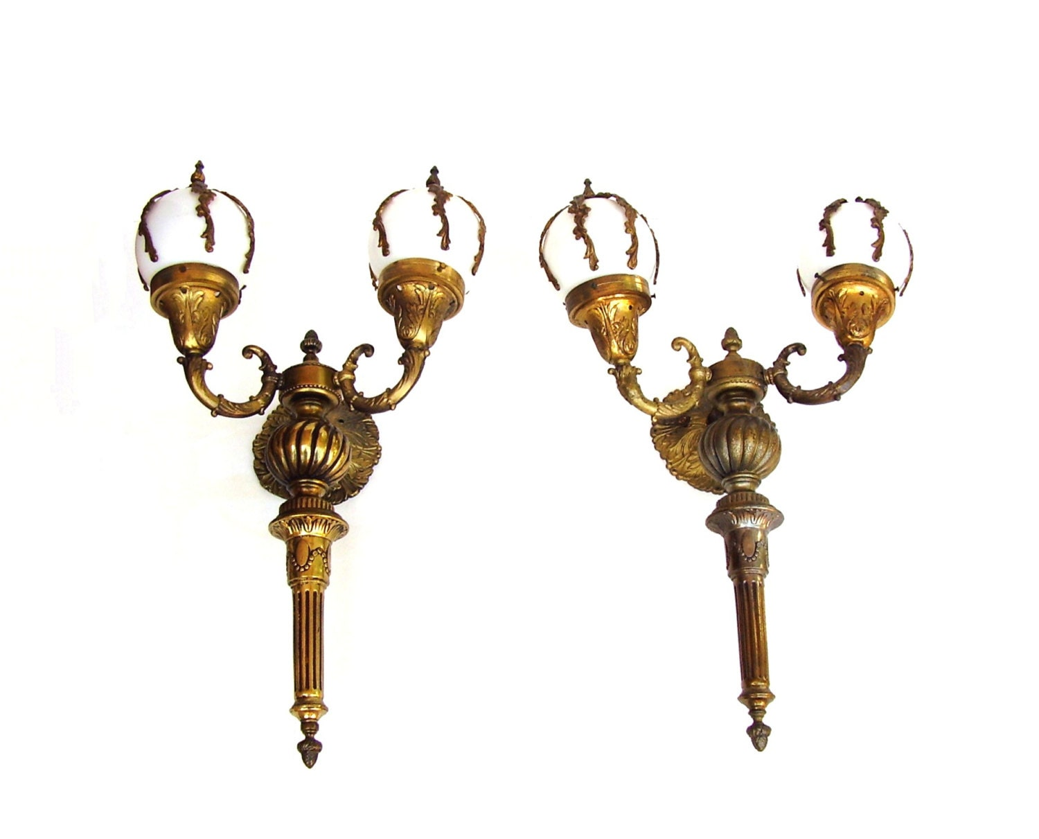 Antique Wall Sconce French Lamps Electric By OceansideCastle