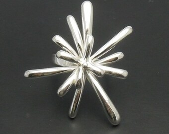 R000591 STERLING SILVER  Ring Solid 925 Flower
