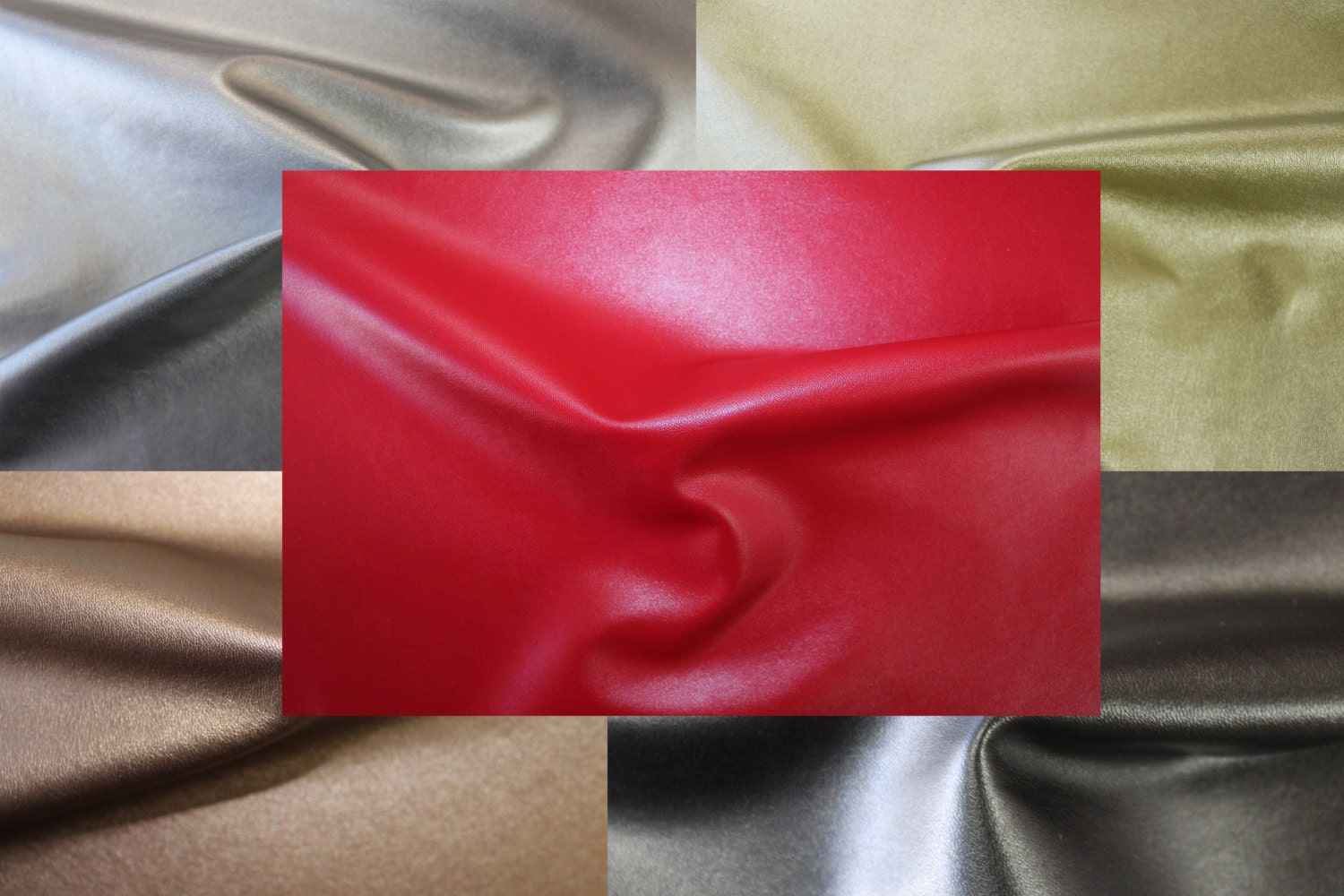 56 wide faux leather 2 way stretch faux leather fabric