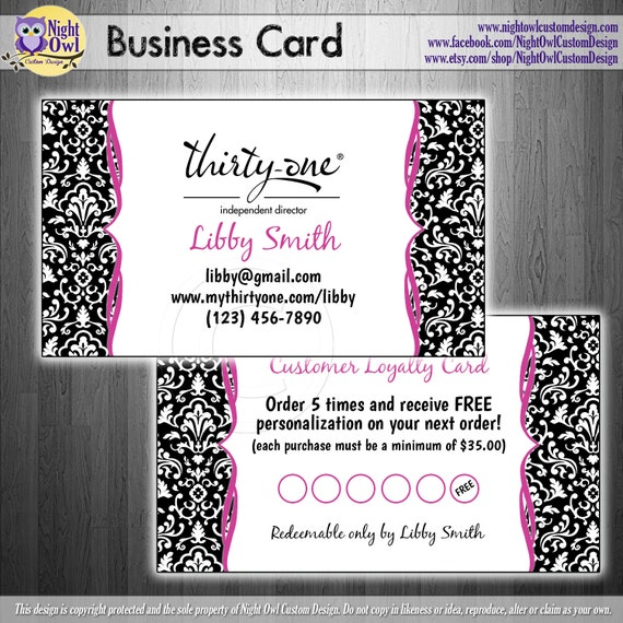Direct Sales Consultant BUSINESS CARD by NightOwlCustomDesign