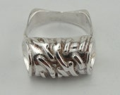 Fine 925 Sterling Silver Ring, New Handcrafted Artistic Unique Impressive Sterling Silver Ring size 8.5 (1442)