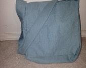 Sea Foam Green Canvas Messenger Bags