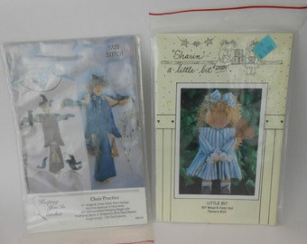 Vintage angel patterns new old stock uncut patterns cloth angel  wood angel and angel and crow patterns