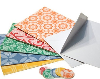 Blank Notecards - (Origami Paper with Seals and Envelopes) Set of 5