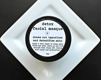 Detox Organic Face Mask, Activated Charcoal Mask,Oily Skin Mask,Gentle Skin Mask, 2oz