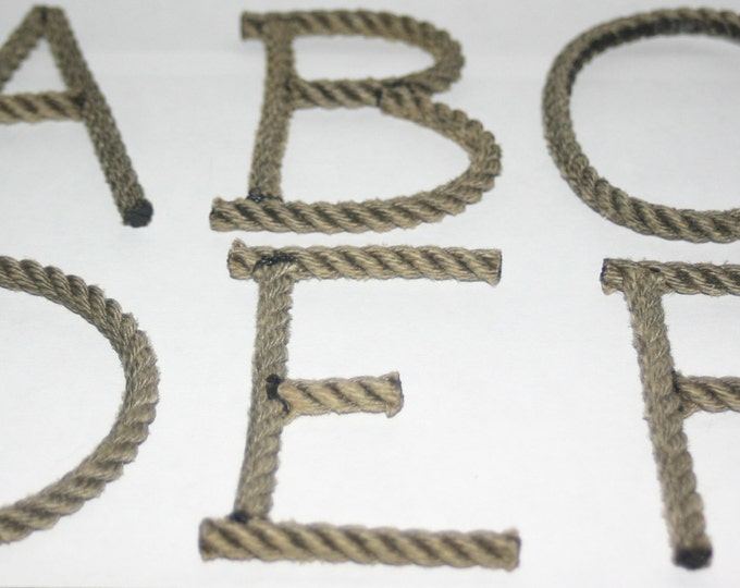 Alphabet Letters Rope Letters MADE TO ORDER Nautical theme decor Weddings & Shower Events