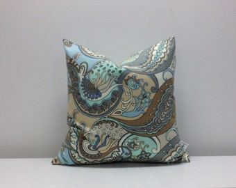 Waverly - Paisley Puzzle - 18 x 18  Pillow cover