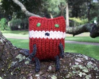 Tiny Fox Stuffed Animal // Knit Fox Doll