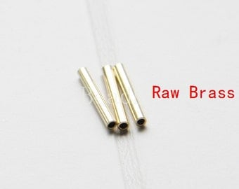 60pcs / Raw Brass / Tube / Brass Base / Spacer 2x15mm  (C1687//P276)