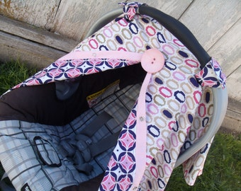 Carseat Canopy Oval Medalloin REVERSIBLE