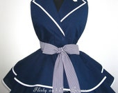 Sexy Navy Pin Up Girl Sailor Costume Apron