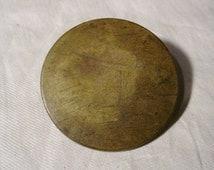 Vintage Antique Brass Horse Button Rosette poss. Civil War Era 1800s