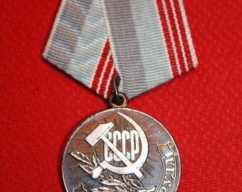 Vintage Medal Veteran of Work from Soviet Union - USSR