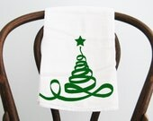 Ribbon Christmas Tree Flour Sack Towel