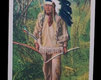 "Vintage ""NATIVE AMERICAN"" postcard"
