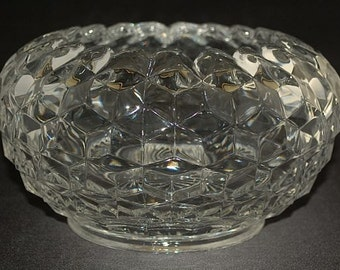 "Fostoria Glass Co. ""AMERICAN"" crystal Cupped Bowl ca. 1939-78"