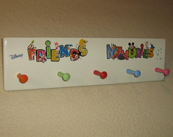 """Walt Disney """" Friends and Memories """" coat rack """" hangup """""""