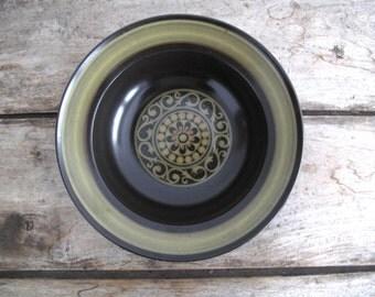 Vintage Mikasa Serving Bowl - Mid Century Ceramic Salad Bowl - Green Pottery