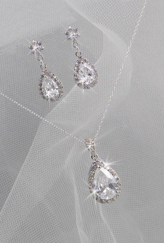 Crystal Bridal Set Bridesmaids Jewelry Set By Crystalavenues