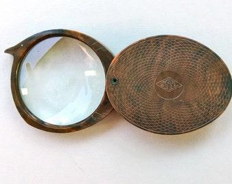 """Vintage Pocket Magnifier Marked """"AT Co USA"""""""