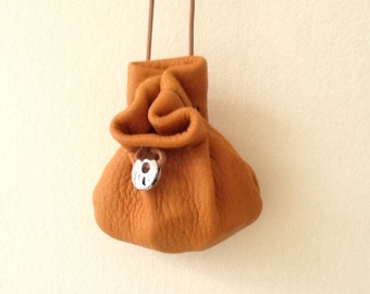 Leather Pouch Bag -Deerskin Bags - Neck Pouch - Medicine Bag - Sage Sack