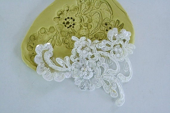 Lace For Cake Decorating : Silicone Alencon Lace mold for cake decorating by ...