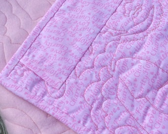 Baby Blanket, Baby Quilt, Baby Tummy Time Mat, Baby fleece quilt, wall hanging