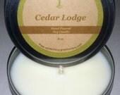 Cedar Lodge Soy Massage Candle 8 oz