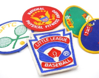 vintage athletic patch, choose from 4 styles, gain prestige the easy way: pretend you earned it; adorn your shirt, backpack or jacket
