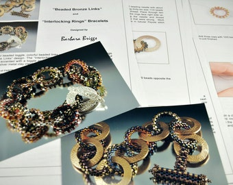 "Tutorials for the ""Beaded Bronze Links"" and ""Interlocking Rings"" Bracelets tutorial"