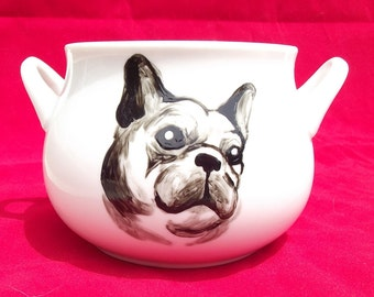 French Bulldog hand-painted Soup Bowl