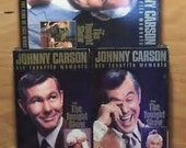 Johnny Carson 1960 - 1980 Favorite Moments 3 VHS Set (NEW)