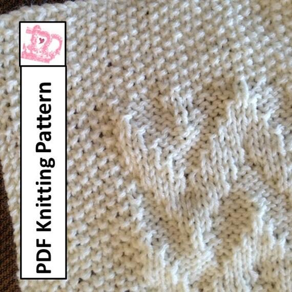 Baby Blanket Knitting Pattern PDF Knitting Pattern Chevron
