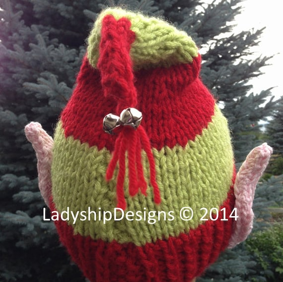 PDF KNITTING PATTERN hat knitting pattern Elf Ears Jingle