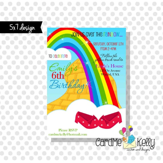 5x7 Printable Wizard of Oz Yellow Brick Road Ruby Slippers