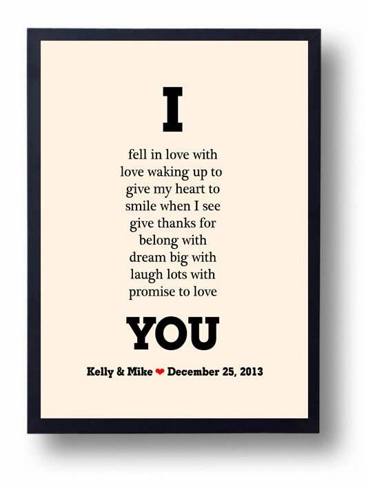 Anniversary gift for Men Boyfriend Husband-Wedding by Eyecharts