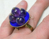 Chinese Export Ring, Amethyst Statement Piece, circa 1930s
