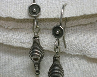 925 Silver Earrings, Spirals & Circles. Indian, Tribal, Modern Art, Boho. No Stone