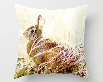 Outdoor Pillow Cover, Bunny Time