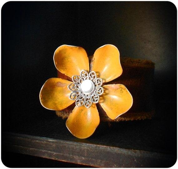 Yellow Flower Cuff